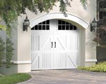 Elegant carriage garage doors add an elegant touch to your exterior garage