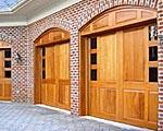 Elegant carriage house garage doors add an elegant touch to your exterior decor